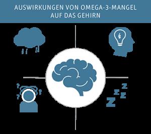 Auswirkungen von Omega-3-Mangel im Gehirn