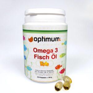 Omega 3 Fisch Öl Kids von Optimum24